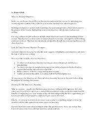 Strong Resume Objective Statements Finance Resume Objective