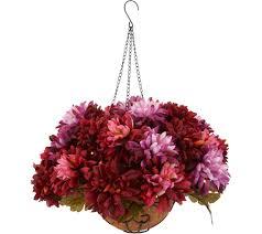Bethlehem Lights Prelit Harvest Mum Hanging Basket with Timer - H212703
