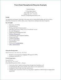 Salon Receptionist Resume Awesome 20 Medical Receptionist Resume