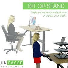 ergonomic desk setup. Ergonomics Desk Ergonomic Sit Stand Standing Keyboard Tray Setup Osha . M