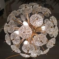 mid century chandelier ball light