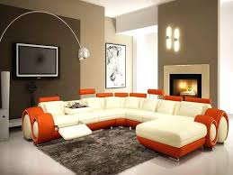 decoration amazing brown accent wall colors living room orange leather sofa decoration translate in chinese
