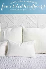 make a faux tiled headboard only 12 and 20 minutes perfect for ers or
