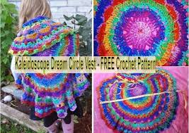 Crochet Circular Vest Pattern Free Impressive Kaleidoscope Dream Circle Vest FREE Crochet Pattern Find Fun Art