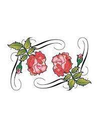 Dvě Třpytivé Růže Tribal Nalepovací Tetování