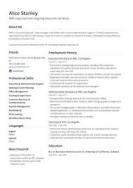 Chronological Resume Examples 2020 Secretary Resume Template Example Guide Jofibo