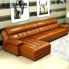 burnt orange leather sofa sectional couch chair set furniture orange sectional sofa14