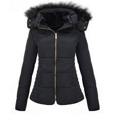 Womens Brave Soul Designer Faux Fur Hooded Short Jacket Quilted ... & Brave Soul Womens Brave Soul Designer Faux Fur Hooded Short Jacket Quilted  Padded Coat Adamdwight.com