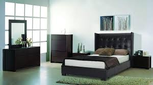Modern Leather Bedroom Sets Sanremo Modern Wooden Bedroom Set With Brown Leather Bed Fort
