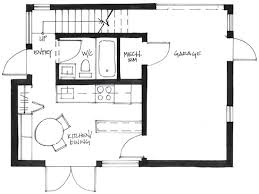 Couple Living in  Square Foot Small House By Smallworks StudiosFirst Level Floor Plan of Westcoast Smallworks Studios Small House