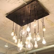 diy light bulb chandelier photo 5