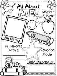 ba3de6d6248c8ed754d1006956d8c413 all about me worksheet this would be cute for a time cap or 1st on free printable all about me book