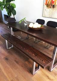 diy modern dining table and modern bench design