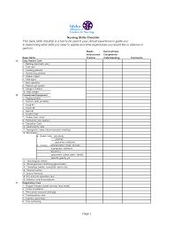 registered nurse skills list registered nurse evaluation form template
