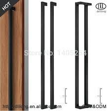 glass door luxury handle black color long handles sliding home depot