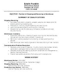 Shipping And Receiving Resume Beauteous Warehouse Clerk Resume Shipping And Receiving Clerk Resume Free
