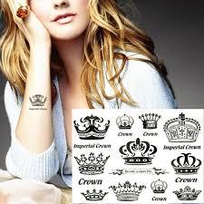 Imperial Crowns Módní Dočasné Tělo Umění Flash Tetování Sti 17 10cm Vodotěsné Henna Tatoo Dospělé Sex Hry Party Výrobky At Vova