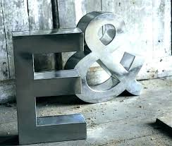 large letters for wall metal home nursery