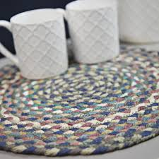 the braided rug company round braided placemat storm