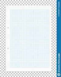 Graph Paper Sheet With Blue Pattern On Transparent