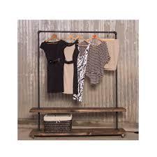 Pipe Coat Rack 100D Double Shelf Clothing Rack Pipe Clothes Racks 69