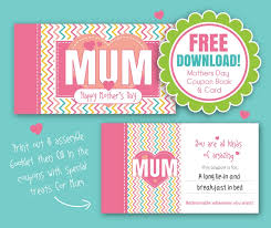 free mothers day printable gift voucher booklet