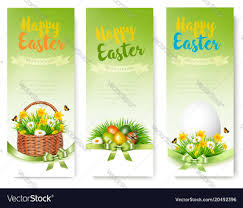ample foods flyer hree easter sale banners colorful eggs and spring vector image