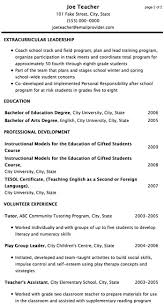 Cv examples no work experience Back to Post Sample Resumes For Teachers  With No Experience