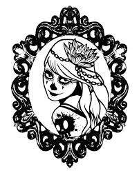Girl Sugar Skull Coloring Pages Google