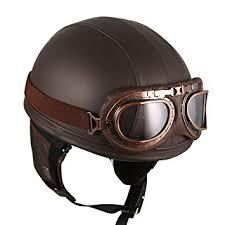 amazon com leather brown motorcycle goggles vintage garman style