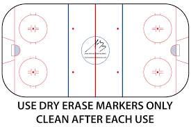 """hockey rink   coaches board   bar down enterprisethe  """" x  """" heavy vinyl rink diagram adheres to the outside of your rinks shielding  hockey rink"""