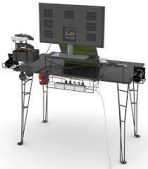 atlantic gaming desk rear best computer desks for