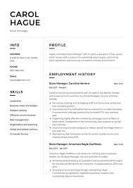 Sales Manager Cv Template Store Manager Resume Guide 12 Resume Samples Pdf 2019
