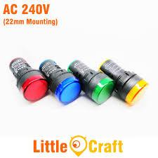 Led Pilot Light 240v Ads16 22d 22mm Led Indicator Ac 240v Pilot Lamp