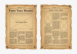 Newspaper Psd Template Download Old Newspaper Illustration Template Magazine Pages Page Layout