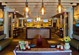 the newly redesigned olive garden lobby