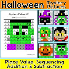 Color By Number Hundreds Chart Halloween Math Hundreds Chart Color By Number Pictures Halloween Activities