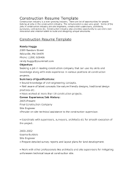 Transform Resume Template For Construction For Construction Worker