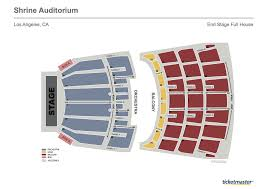La Shrine Auditorium Seating Chart Seating Charts Shrine Auditorium