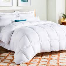 linenspa all season white down alternative quilted comforter