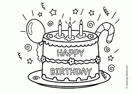 Happy Birthday Coloring Pages Education Com Chronicles Network