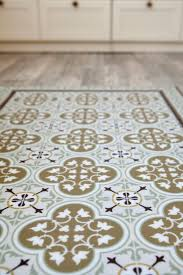 kitchen rugs. Free Shipping Tiles Pattern Decorative PVC Vinyl Mat Linoleum Rug - Color Ocher And Brown 174 Kitchen Rugs R
