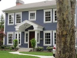 Modern Exterior Paint Colors For Houses Blue Siding Wood Doors - House exterior paint ideas