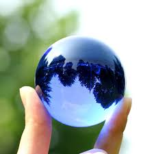 Decorative Marble Balls XINTOU Blue Crystal Sphere Ball Natural Feng shui Decorative Glass 79