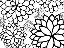 Flower Coloring Pages Easy Printable E Page Decorating Small Of