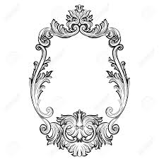 Image Skull Baroque Rococo Mirror Frame Decor Vector French Luxury Rich Carved Ornaments And Wall Frames 123rfcom Baroque Rococo Mirror Frame Decor Vector French Luxury Rich