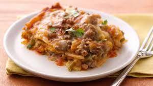 slow cooker layered enchilada dinner