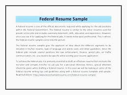 Federal Resume Example Federal Resumes Examples Resume Example