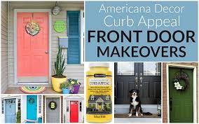 front door curb appealDecoArt Blog  DIY  Curb Appeal Front Door Makeovers
