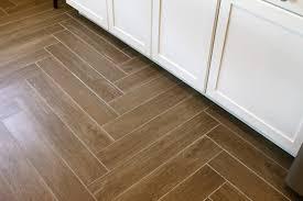 wood herringbone tile floor